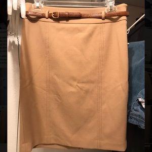 Ann Taylor Loft professional skirt + belt